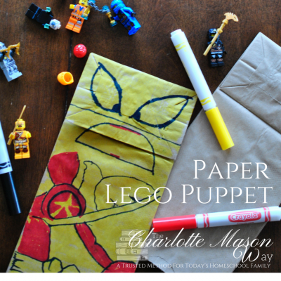 Paper Lego Puppet